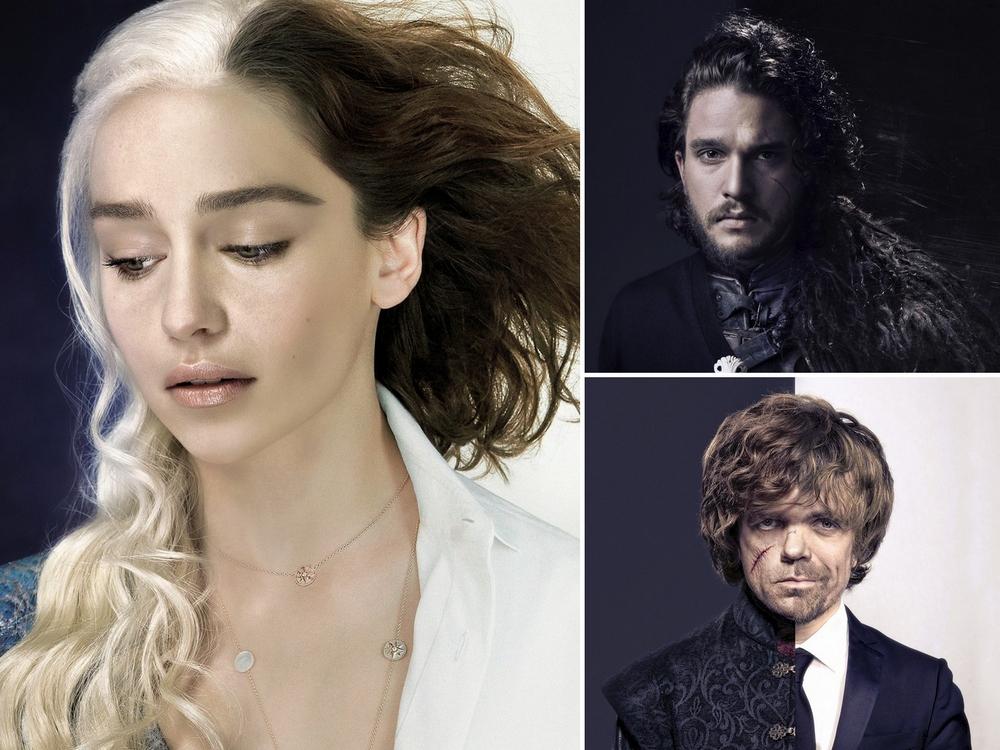 Дизайнер совместил фото актеров из «Игры престолов» в кино и повседневной жизни