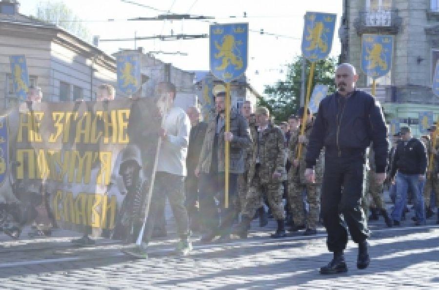 Патриоты провели марш в честь галицких дивизионников