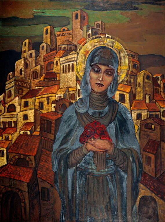 Розы сердца (Княгиня Ольга)Розы сердца - С.Н. Рерих, 1923.