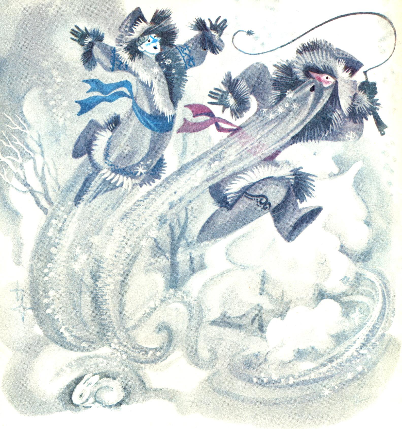 Сказка два мороза рисунки 8