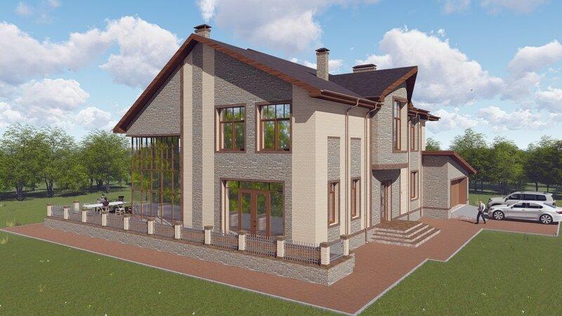 проект дома, визуализация 2