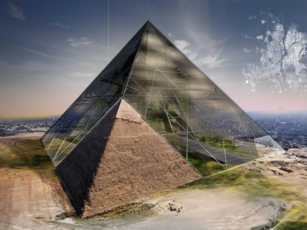 Рекреационный комплекс, который планируется построить между Каиром идревними пирамидами. Технологии