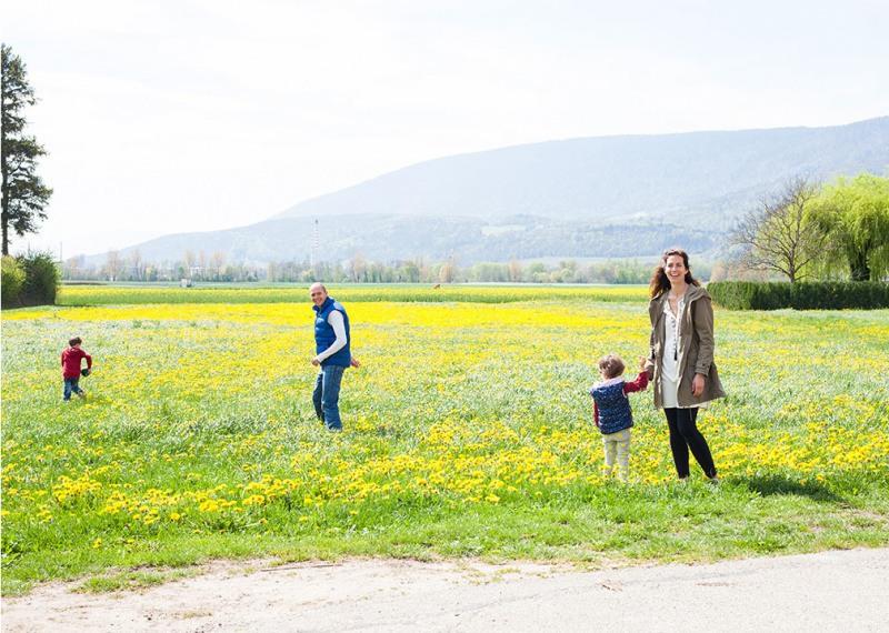 10 Джером, Сесиль, Тео и Шарлотта. Ле Ландерон, Швейцария