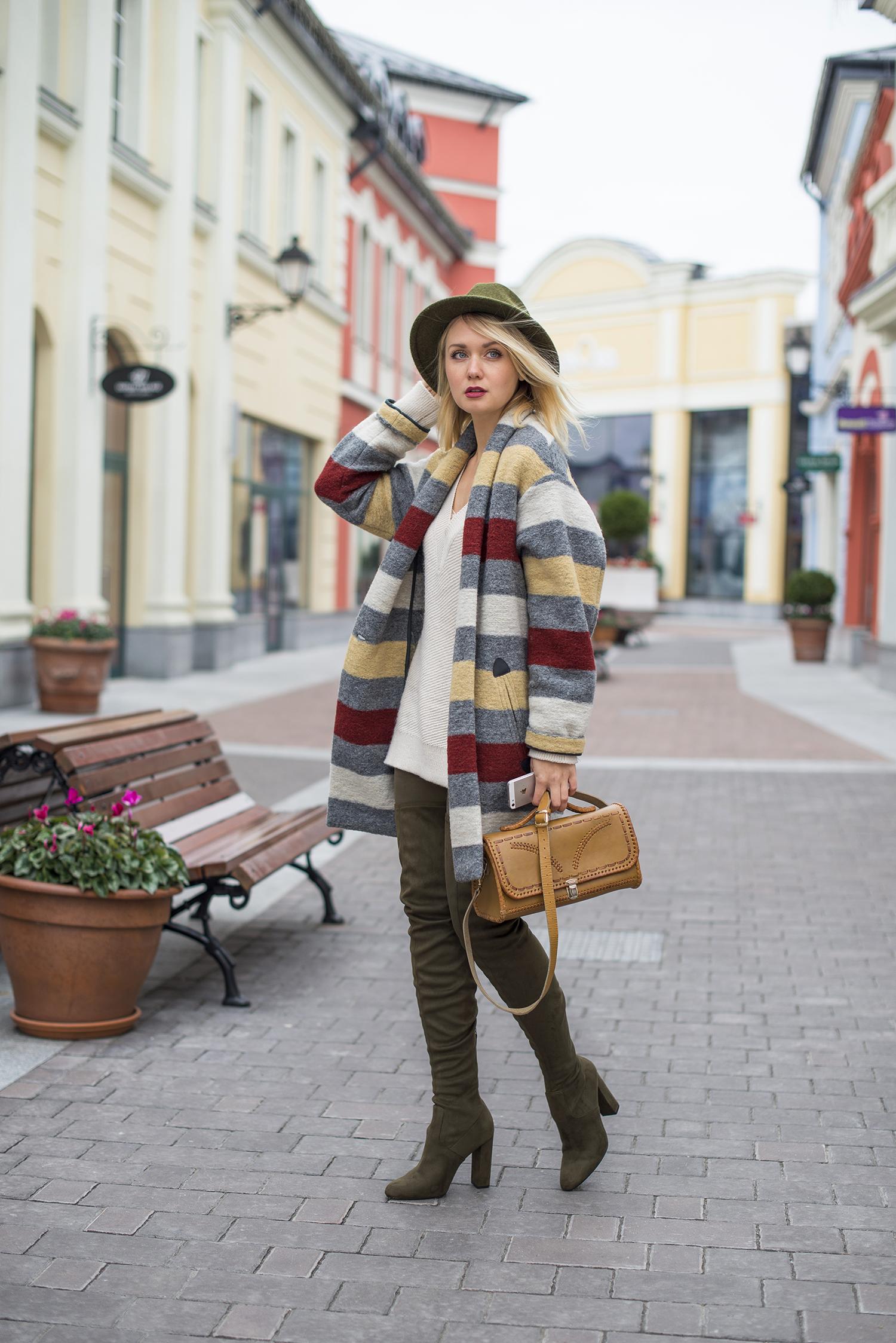 inspiration, streetstyle, autumn outfit, annamidday, top fashion blogger, top russian fashion blogger, фэшн блогер, русский блогер, известный блогер, топовый блогер, russian bloger, top russian blogger, streetfashion, russian fashion blogger, blogger, fashion, style, fashionista, модный блогер, российский блогер, ТОП блогер, ootd, lookoftheday, look, популярный блогер, российский модный блогер, russian girl, с чем носить ботфорты, осенние цвета, цветовые сочетания, streetstyle, красивая девушка, зеленая шляпа, с чем носить шляпу, Анна миддэй, анна мидэй, luisaviaroma, marc cain, ISABEL MARANT ÉTOILE, ISABEL MARANT, Steve madden, ISABEL MARANT ÉTOILE STRIPED BOILED WOOL BLEND COAT, ISABEL MARANT FW 2016-2017, STEVE MADDEN БОТФОРТЫ ИЗ СТРЕТЧ МИКРОФИБРЫ, STEVE MADDEN STRETCH MICROFIBER BOOTS, Hessian boots