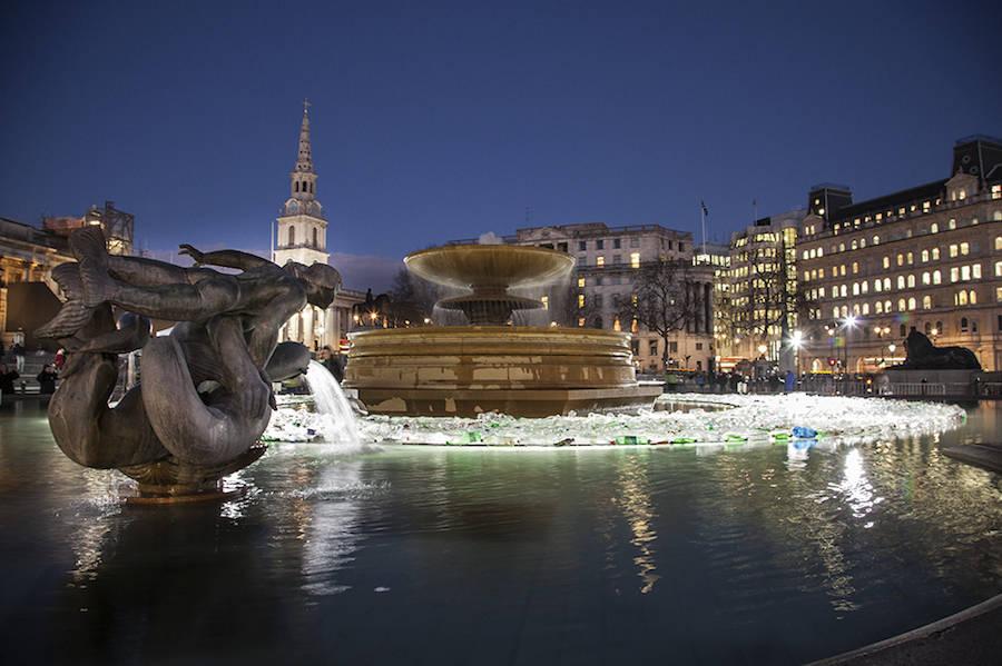 Seas of Plastic Installation in Trafalgar Square