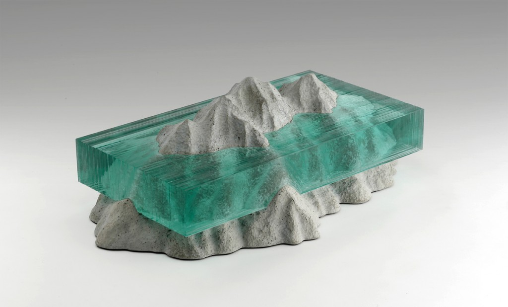 Glass is an obvious choice when wanting to create ocean subject matter but the material its self is