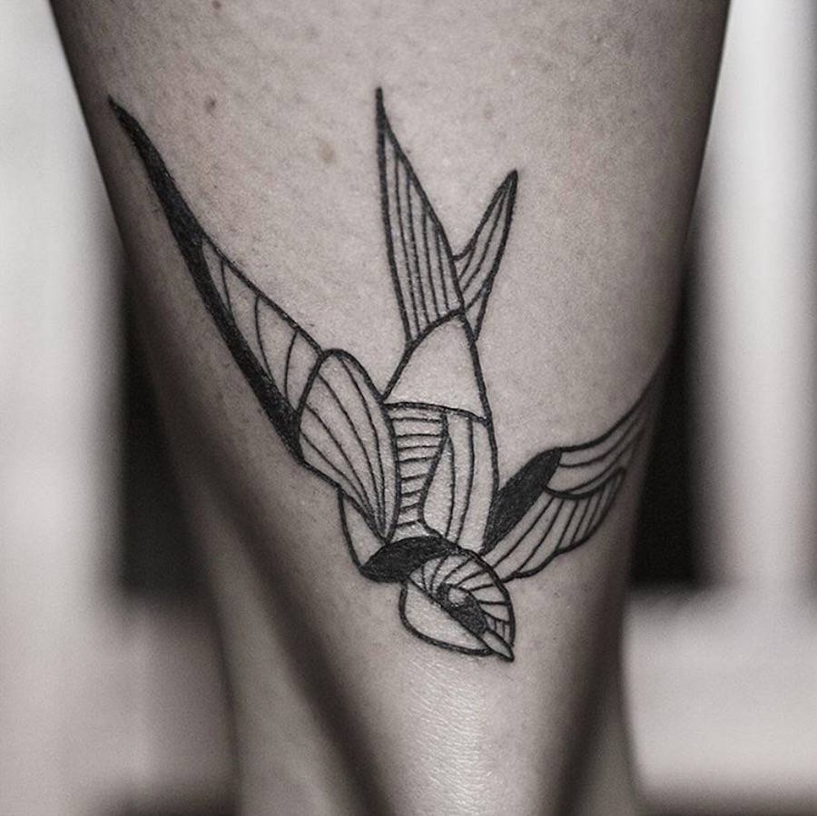 Geometrical Black Tattoos of Animals