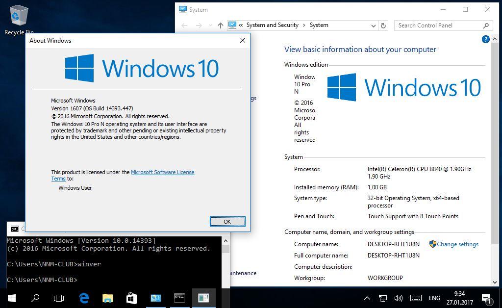 Windows 10 Pro Final Original Microsoft Vlsc: Windows 10 10.0.14393.447 Version 1607 (Updated Jan 2017