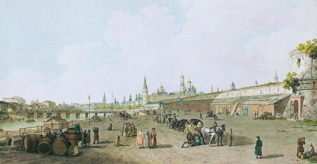 461820 Вид Кремля с Москворецкой набережной 1796 Жерар Делабарт.jpg
