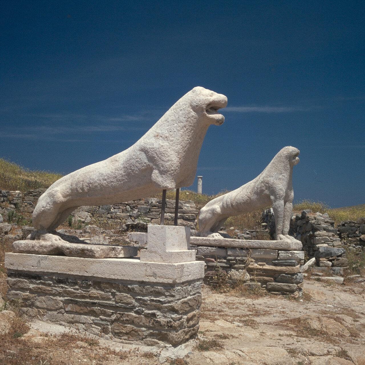 Делос. Каменные львы. VII в. до н.э.