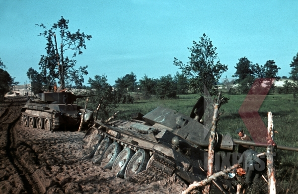 stock-photo-captured-early-russian-t34-and-bt7-tank-dubno-ukraine-1941-battle-of-brodny--9-infantry-division-12648.jpg