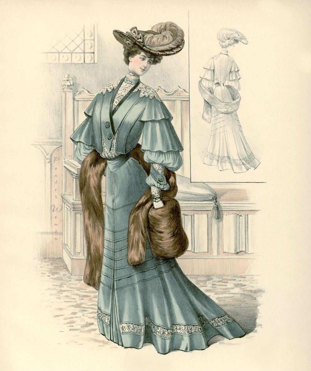 Дню, история моды на открытках