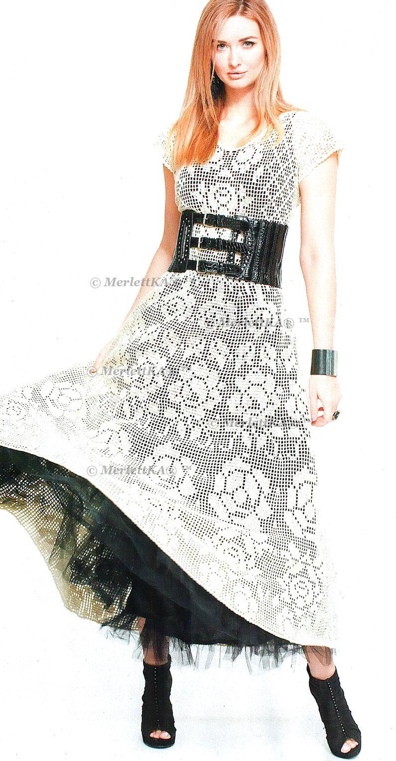 Вязание крючком розочек для платья