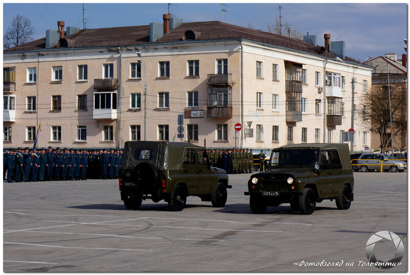 Репетиция Парада Победы в Тольятти