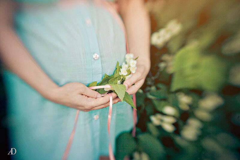 Красивая  фотосессия для беременной мамы.