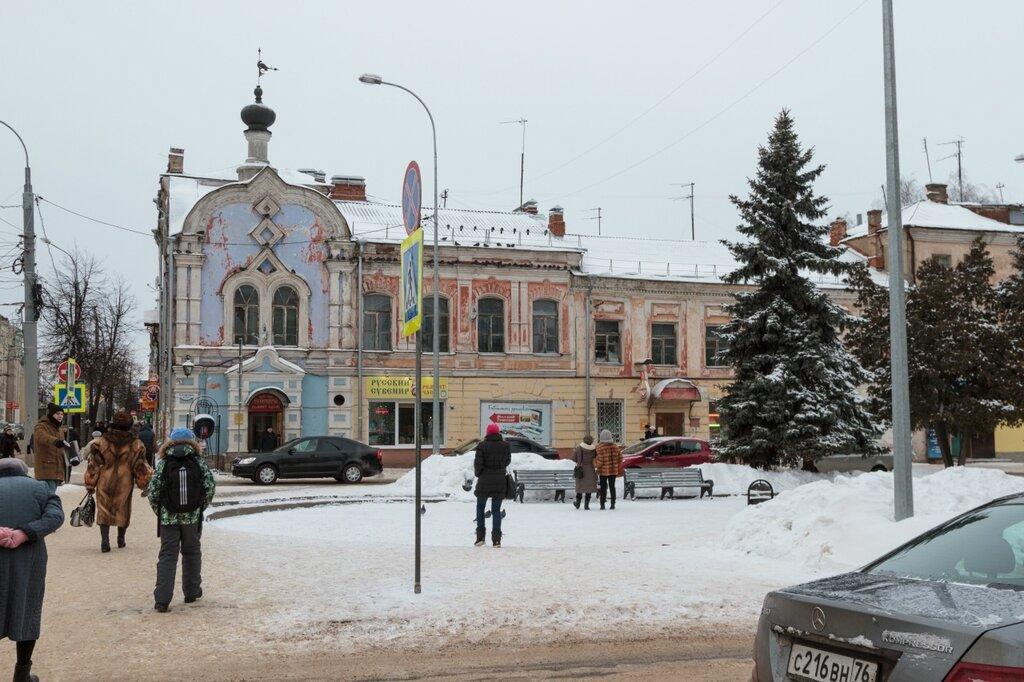 Сквер и Крестовая улица, Рыбинск