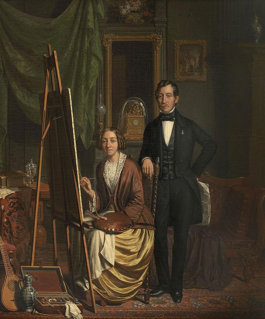 (Zelf)portret_van_het_echtpaar_Kiers-Haanen_door_Elizabeth_Haanen_(1845).jpg