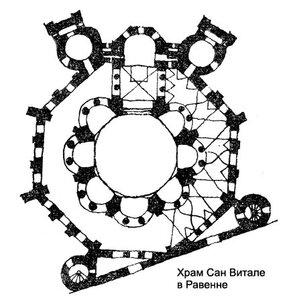 Базилика Сан Витале, план
