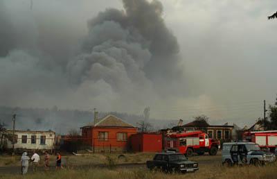 лесной пожар в селе масловка