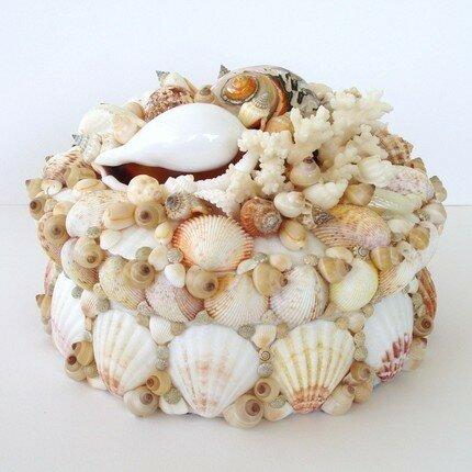 Шкатулки, декорированные ракушками