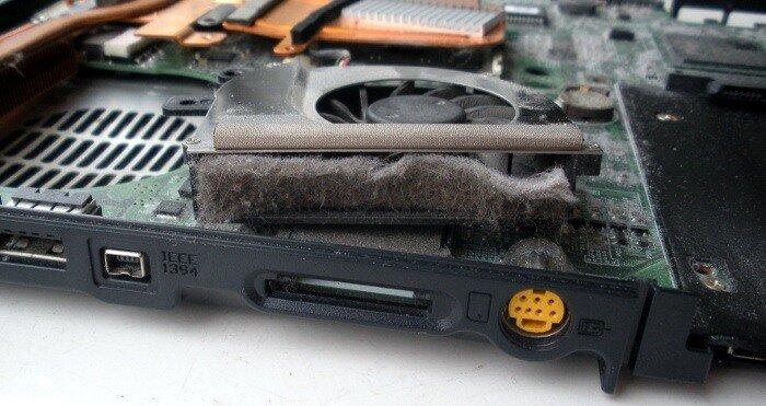 разборка и чистка ноутбука Fujitsu-Siemens Amilo Pro от пыли
