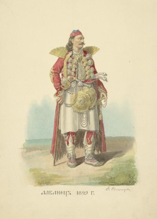 163. Албанец. 1829.