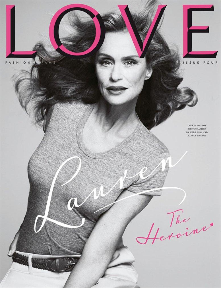 Love Magazine 4 covers by Mert Alas and Marcus Piggott - Lauren Hutton