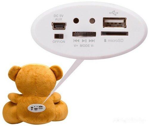 Texet TPA-3005 Winnie Bear (разъемы)