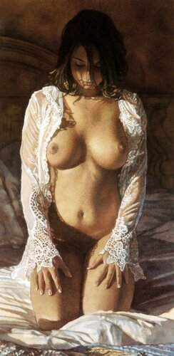 голые девушки рисунки художников