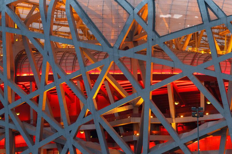 """Конструкции """"Птичьего гнезда"""", Олимпийский парк, Пекин"""