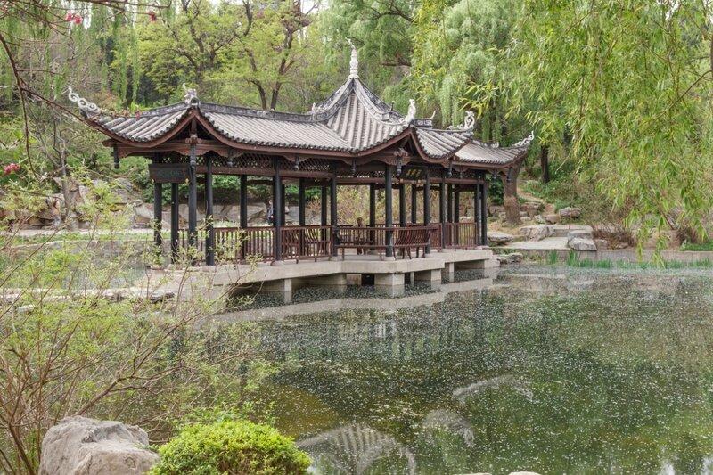 Мост-беседка, Парк Таожаньтин, Пекин