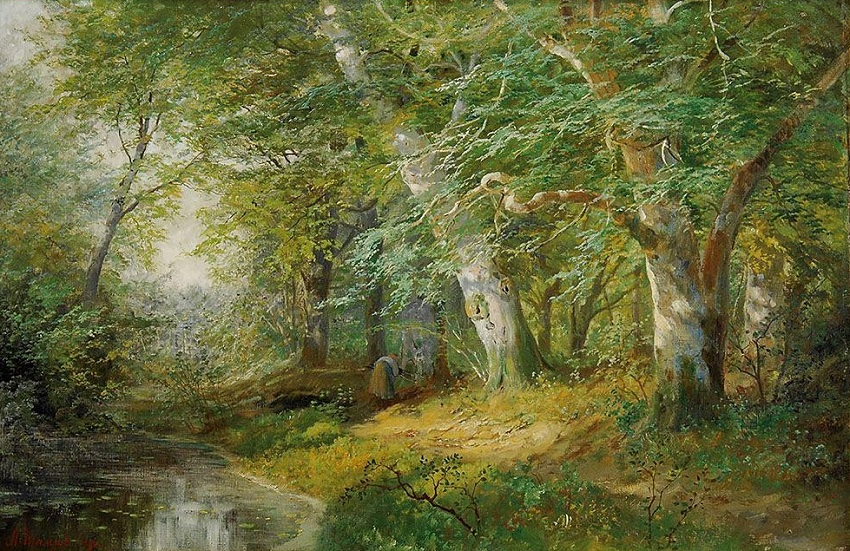 SUNLIT FOREST POOL , 1892.