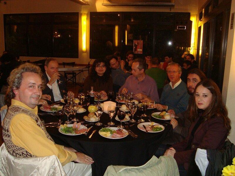Ужин на конференции с танго оркестром и танцами
