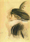 Painting of Belle da Costa Greene by Paul César Helleu ca. 1913