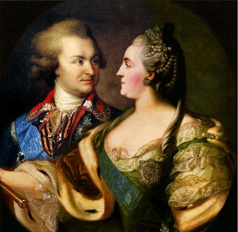 Екатерина II и Григорий Потемкин