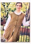 вязаный модный стильный женский жилет жилетку с фото.