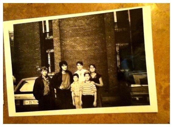 Мы с Витей Цоем и дядей Юрой (1989г., Москва)