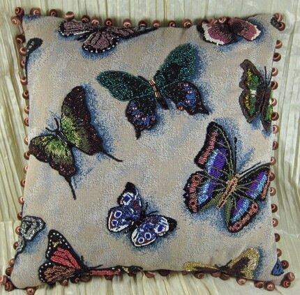 Вышивка бисером подушек схемы