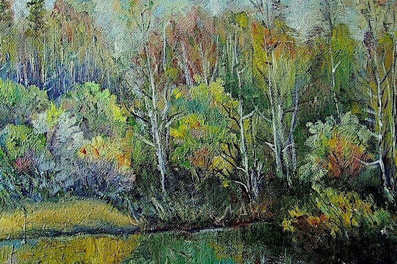 Весенний этюд у речки