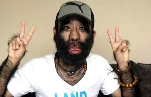 Самый волосатый человек в Китае.