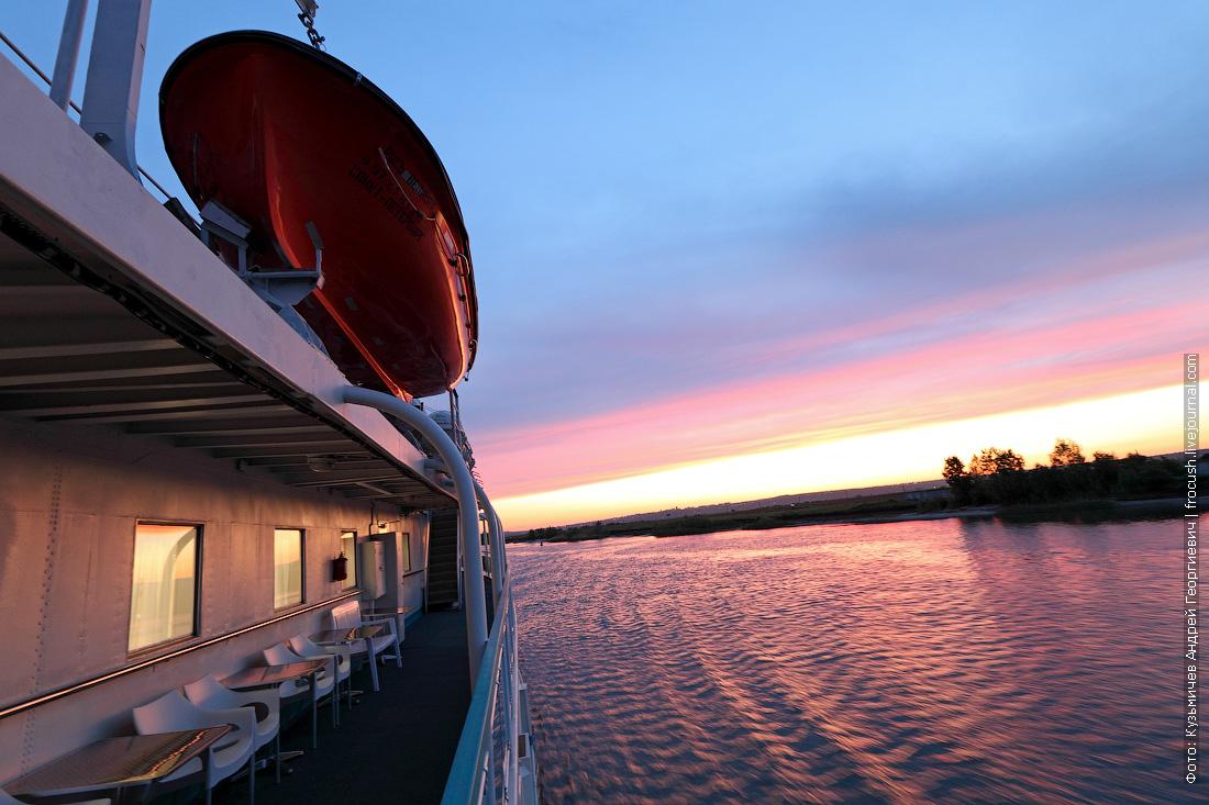 закат на реке Дон