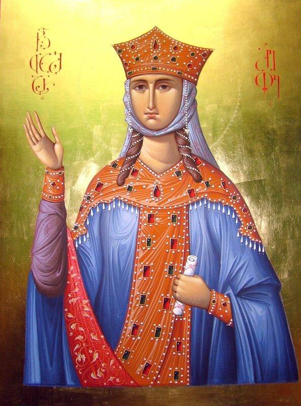 Святая Благоверная Царица Тамара. Иконописец Зураб Модебадзе.