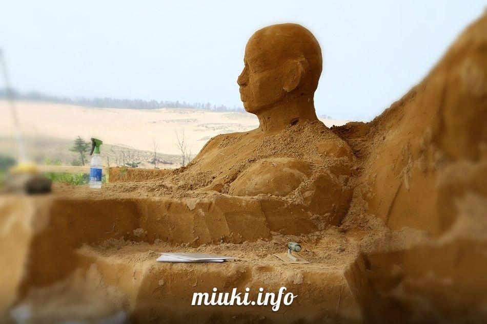 Музей песчаных скульптур в Японии