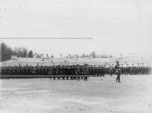Парад  1-ого стрелкового  батальона .