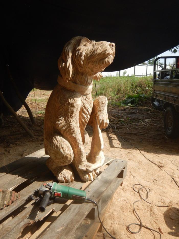 Скульптуры из дерева бензопилой видео