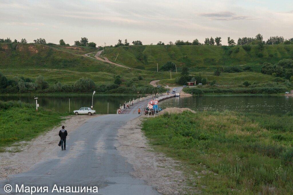 Понтонный мост через Оку в Старой Рязани