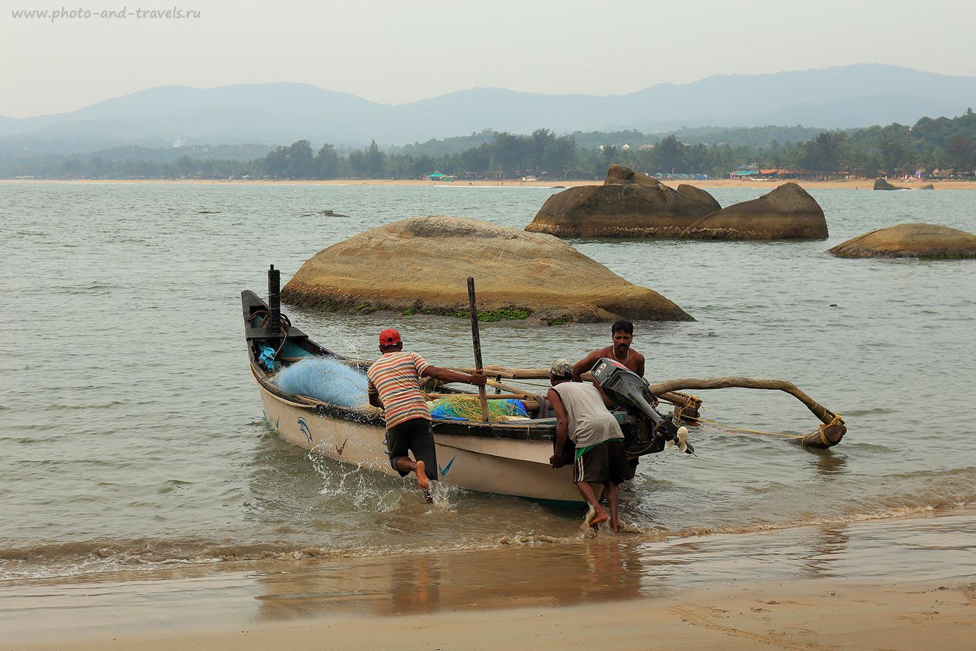 Фотография 5. Рыбаки. Отчет про отдых на Гоа в несезон: в октябре. Отзывы туристов об отдыхе в Индии (24-70, 1/125, 0eV, f9, 67mm, ISO