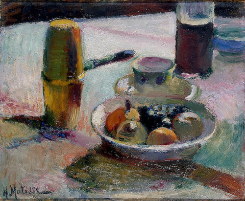 Фрукты и кофейник , Около 1898 г..jpg