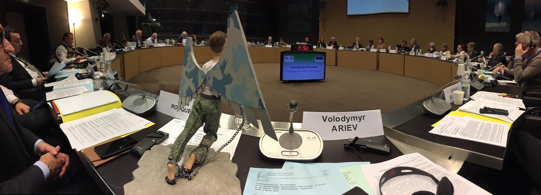 Надежда Савченко присутствует на заседании ПАСЕ.jpg