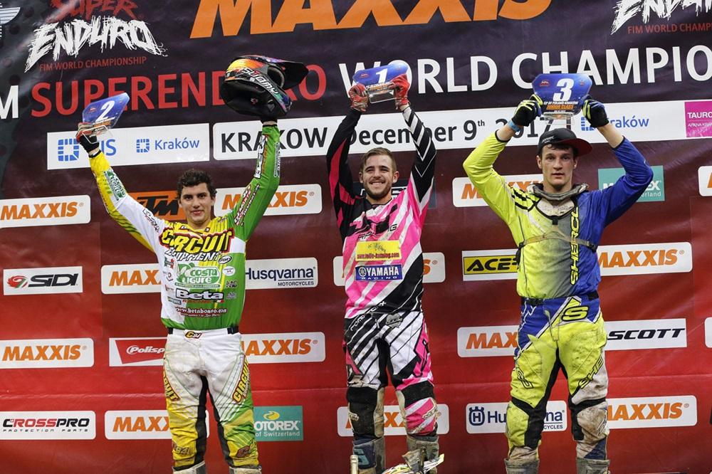 Тедди Блазусиак выиграл 1-й этап SuperEnduro 2017-2018 в Кракове